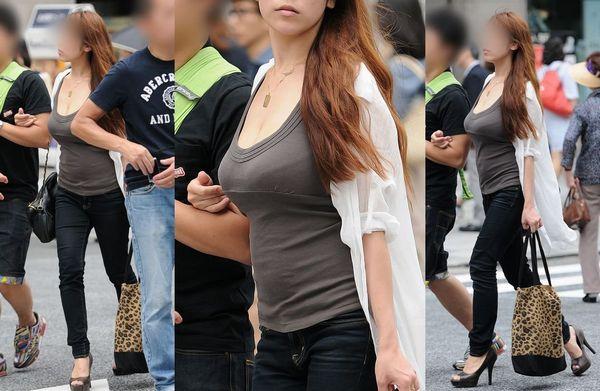 【素人街撮り画像】どっちが好き?巨乳でも貧乳でも着衣おっぱいのエロさは異常ww:とりちゃんねる08
