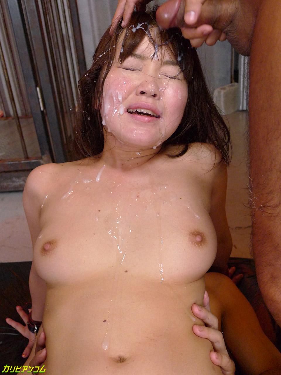 Uncensored japanese gangbang with hairy pussy av idol - 1 part 2