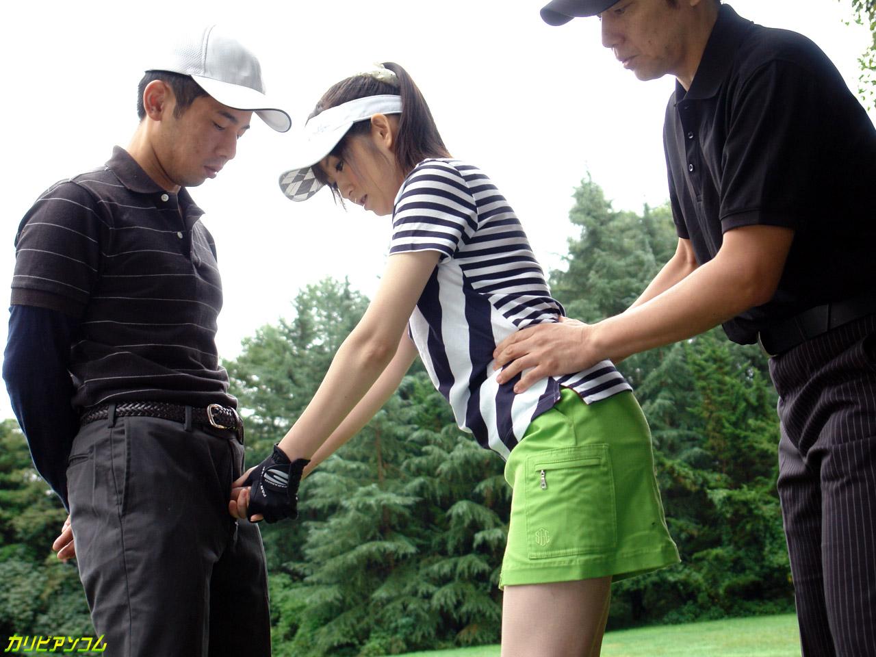 ゴルフレッスンに来た娘にホールインONE 前編 月野みちる